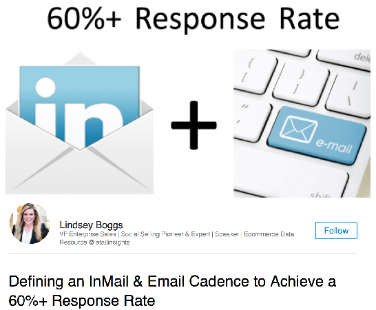 defining an inmail and email cadence