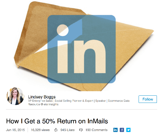 how to get a 50 return on inmails